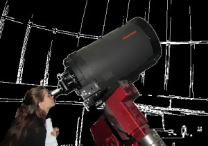 stargazing through telescope